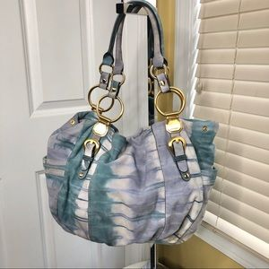 b. Makowsky Blue Watercolors Tie Dye Hobo Bag